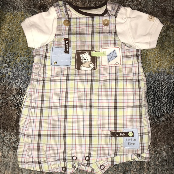 Disney Other - Baby Boy Shorts Overall Outfit